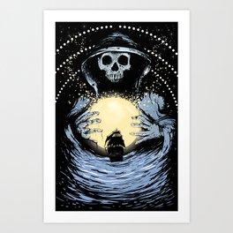 Black Sails, Blacker Seas Art Print