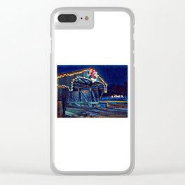 Mad River Coved Bridge, Vermont Clear iPhone Case