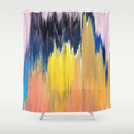 Pixel Sorting 66 Shower Curtain