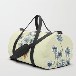 Lion on dandelion Duffle Bag
