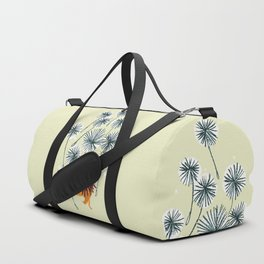 Lion on dandelion Duffle Bag