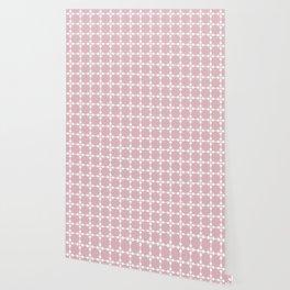 Droplets Pattern - Dusky Pink & White Wallpaper