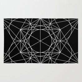 Metatron's Cube Black & White Rug