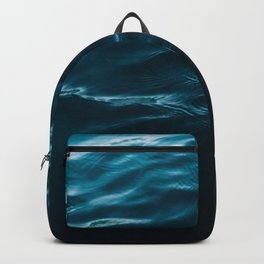 Minimalist blue water surface texture - oceanscape Backpack
