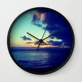 Orange Hawaiian Nights Wall Clock