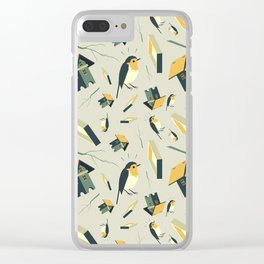 Flying Birdhouse (Pattern) Clear iPhone Case