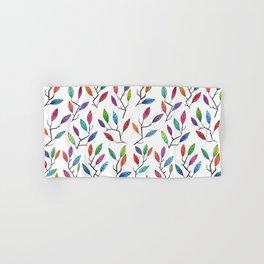 Leafy Twigs - Multicolored Hand & Bath Towel