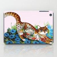 russian iPad Cases featuring Russian cat by oxana zaika