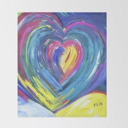 Heart by Sheila Fein Fantasy Pop Throw Blanket