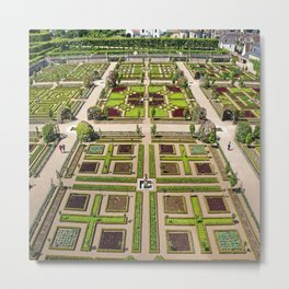 The Gardens at Chateau Villandry in France Metal Print