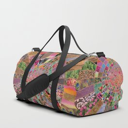 Shitty pink colored Clown Spiderweb Duffle Bag