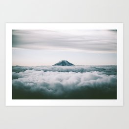 Adams Above Clouds Art Print
