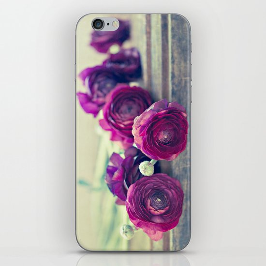 Like Royalty (Purple Ranunculus)  iPhone & iPod Skin