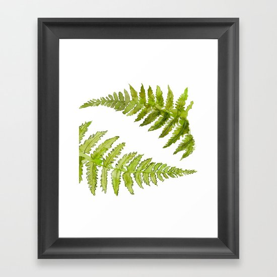 Etched Into Nature No.1 Forest Ferns Framed Art Print