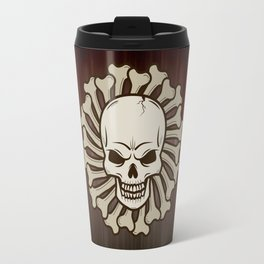 Angry skull Travel Mug