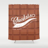 chocolate Shower Curtains featuring Chocolate by Barbo's Art