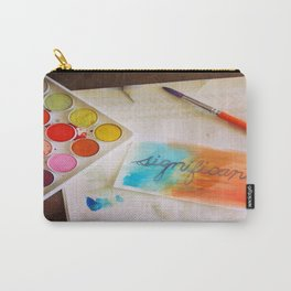 significant watercolor print photo Carry-All Pouch