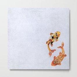 japanese koi fish watercolour Metal Print