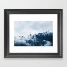Smoke & Fog #blue Framed Art Print