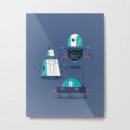 :::Mini Robot-Nanoi::: Metal Print