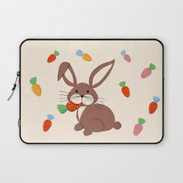 Cute Bunny and Carrots Laptop Sleeve