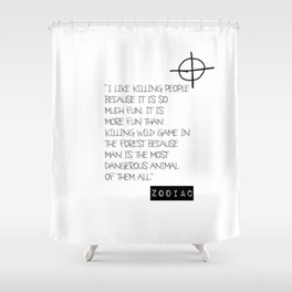 Zodiac Killer Shower Curtain