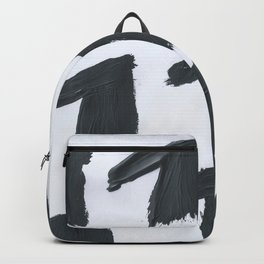 Horse, Abstract, Black & White Backpack