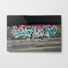 Long Graffiti Wall Metal Print