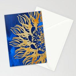 Mandala Madness - Golden Blue Stationery Cards