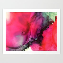Lava Fluid Art Painting Art Print