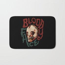 Bloody Face Bath Mat