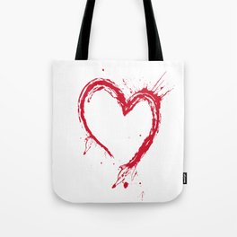 Heart ink Splash Tote Bag