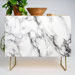 White Marble Texture Credenza