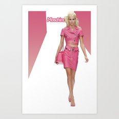 MOSCHINO RUNWAY BARBIE GIRL Art Print