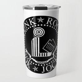 Punk Rock Book Jockey Black Logo Travel Mug