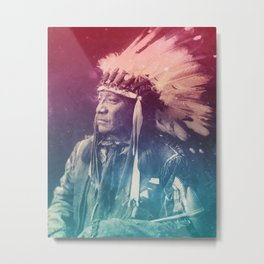PAINTED HORSE SIOUX NATIVE AMERICAN Metal Print