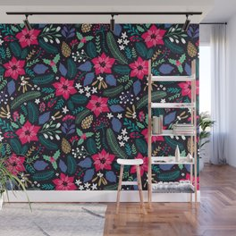Seamless Floral Pattern Wall Mural