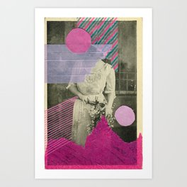 Cyclamen Girl Art Print