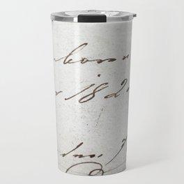 Vintage writing Travel Mug