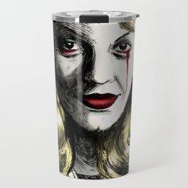 Sylvia Plath_Blood Red Travel Mug