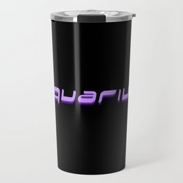 Aquarius (Purple Text) Travel Mug