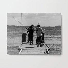 Gone Fishing Metal Print