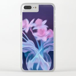 bouquet of flowers in a vase Clear iPhone Case