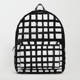 Hand-painted Grid Backpack