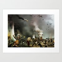 From Valhalla to Normandy  Art Print