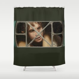 In a hole in the ground Shower Curtain