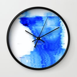 blue statue Wall Clock
