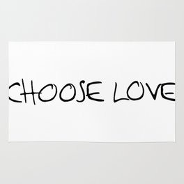 choose love Rug