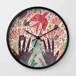 Spring Bird Wall Clock