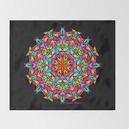 Psychedelic Porcupine Mandala Throw Blanket